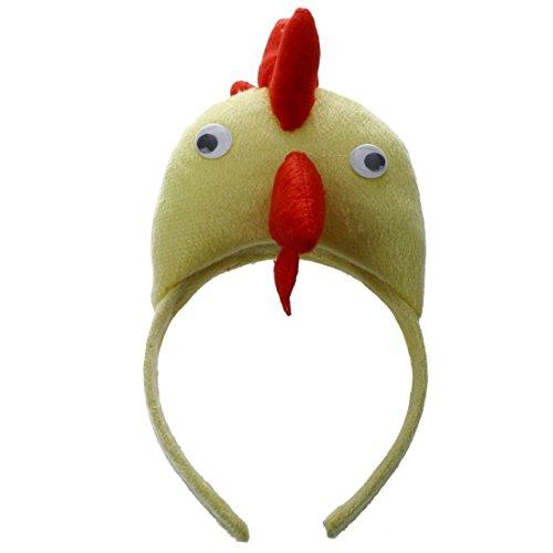 TOOGOO Banda de Cabeza de Gallo Pollo 3D Granja de Animales Mascara para ninos Adultos Baile de mascaras de Disfraz