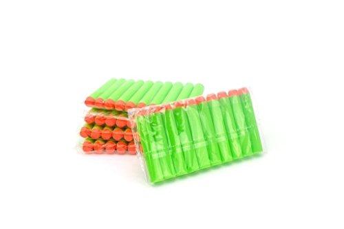 Topways® 100 Piezas 7,2 cm de Espuma de Recarga Dardos Bullet for Nerf N-Strike Elite Blasters Pistola de Juguete Balas nerf Elite Dardos (Verde)