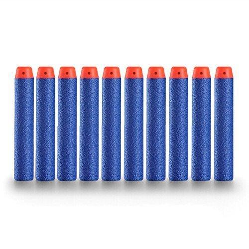 Topways® 7.2cm Recarga de Dardos Refill Bullet Dardos de Espuma para Nerf N-Strike Elite Series Blasters Pistola de Juguete Azul 100 Piezas