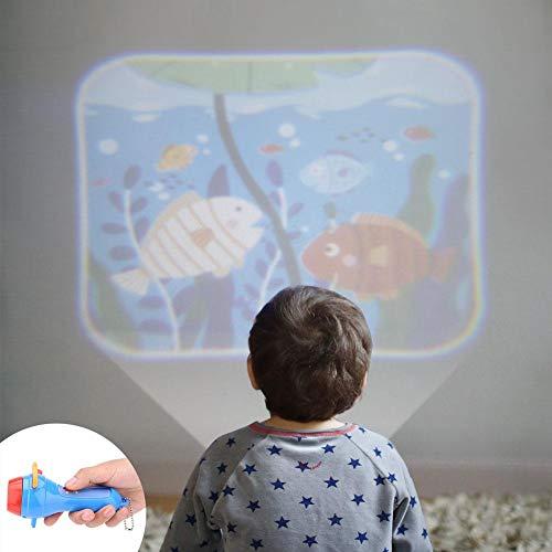 Toy Story Proyector de linterna para niños, historias de camas para dormir Proyector Antorcha para niños Juguetes educativos para proyectores