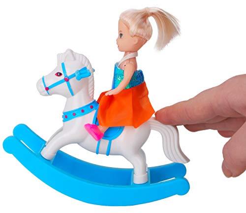 TOYLAND® Doll Family Playset - Daddy, Mummy, Toddler & Baby Bump - Juguetes para niñas