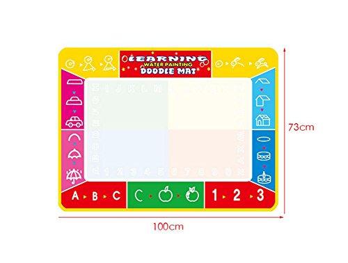 TQP-CK Doodle del Niños Pizarra mágica Pad Delux 39.4*28.7in, Dibujo del Agua Pintura Escribir Mat + 4 bolígrafos para Pizarra mágica,ABC