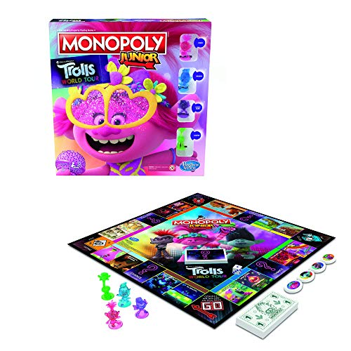 Trolls World Tour Monopoly Junior Juego de Mesa