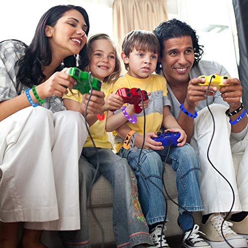 TUPARKA 32 Pcs Gaming Party Supplies Pulsera de Silicona,Tema de Videojuegos Birthday Party Supplies Favores para Adultos y Niños