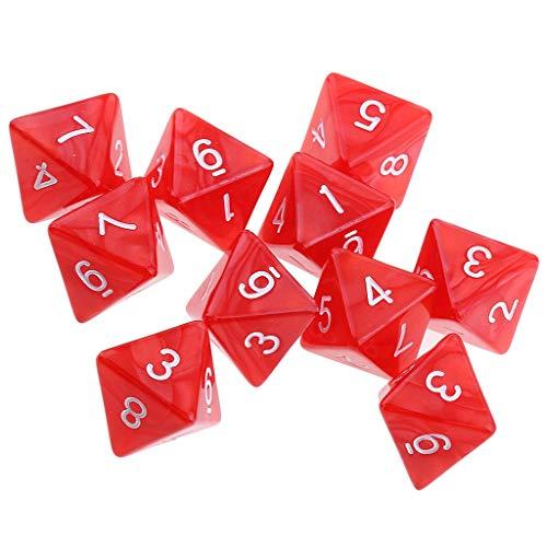 TX GIRL 20pcs 8 Caras Dados D8 Poliédrica Casino Dados Dados For El Partido D & DDungeons Y Dragones Juegos (Size : 1.6cm/0.63inch)
