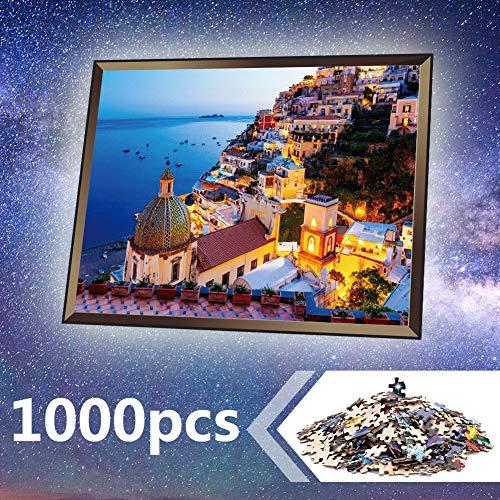 UHvEZ 1000pcs_Wooden Puzzle_Sonic New Blue Flash_Children's Animation Puzzle_Brain IQ Development Brain Challenge Gift_50x75cm