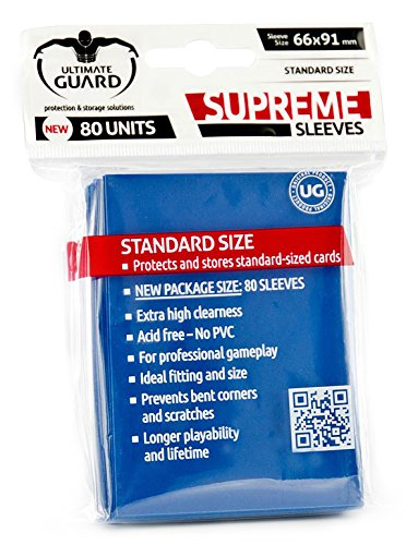 Ultimate Guard 10117 Fundas Metalizadas, 80 Unidades, Color Azul Oscuro (10117)