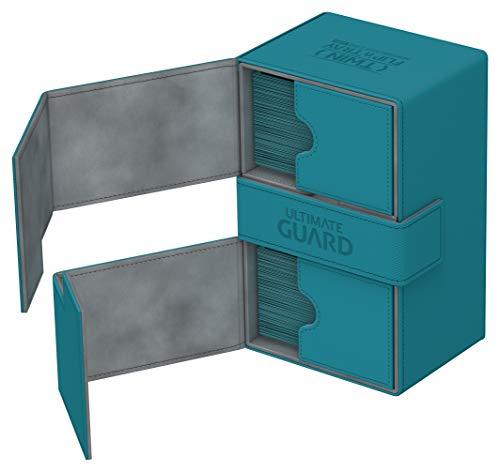 Ultimate Guard Estuche de baraja UGD010648 Twin Flip'N'Tray Xenoskin de Color Azul petróleo para 160 Cartas Plus (tamaño estándar)