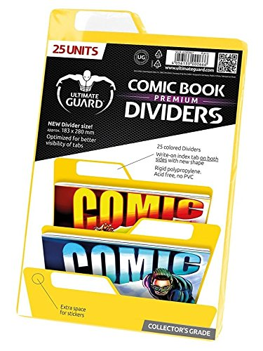 Ultimate Guard Premium Comic Book Dividers Separadores para Cómics Amarillo (25) , color/modelo surtido
