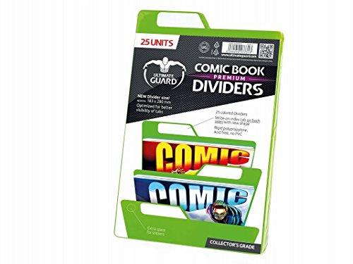 Ultimate Guard Premium Comic Book Dividers Separadores para Cómics Verde (25) , color/modelo surtido