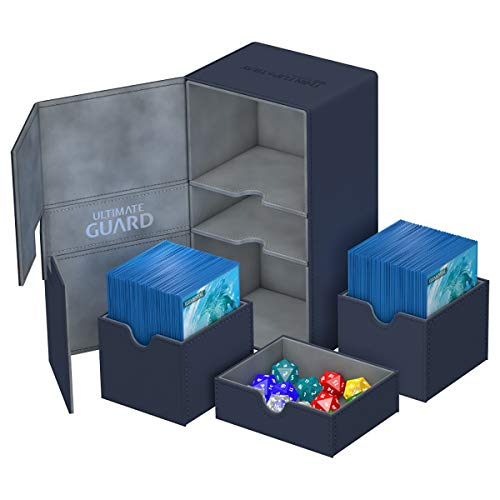 Ultimate Guard Twin Flip´n´Tray Deck Case 200+ Caja de Cartas Tamaño Estándar XenoSkin Azul