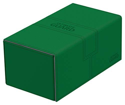 Ultimate Guard Twin Flip´n´Tray Deck Case 200+ Caja de Cartas Tamaño Estándar XenoSkin Verde
