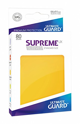 Ultimate Guard ugd010546–Supreme UX Sleeves, tamaño estándar, Amarillo