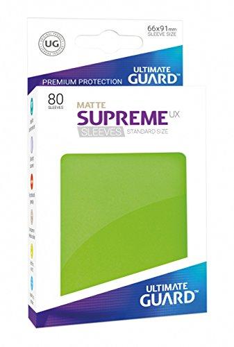Ultimate Guard ugd010553–Supreme UX Sleeves, tamaño estándar, Mate Color Verde Claro