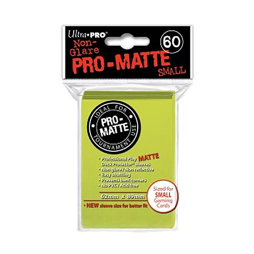 Ultra Pro 60 Protector Cubierta - por Mata por Mata Brillante Amarillo - Pequeño minisize Mangas - tarjeteros Amarillo Brillante - Yu-Gi-Oh!