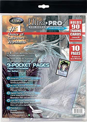 Ultra Pro 81359, 10 Páginas con 9 Bolsillos Cada Una