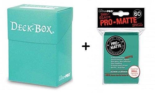 Ultra Pro Deck Box + 60 Small Size Protector Sleeves - Aqua - Yu-Gi-Oh!