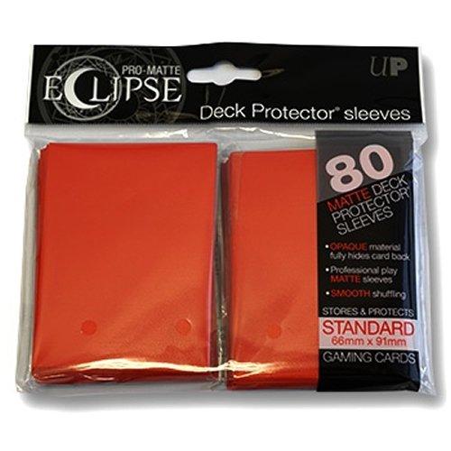 Ultra Pro- Deck Pro Eclipse Red Matte 80ct, Color Rojo (E-85250)
