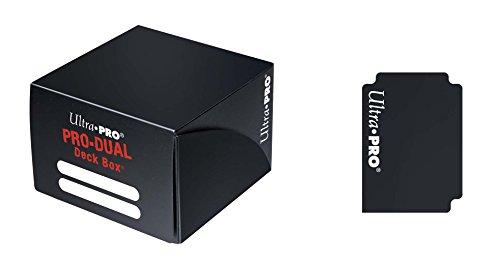 Ultra Pro Deckbox Pro Dual C30–Juego de Cartas (Negro)