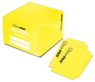 Ultra Pro Dual - Caja para Tarjetas, Color Amarillo