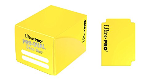 Ultra Pro E-82986 Pro Dual Small Yellow Deck Box, Adultos Unisex, Talla Unica