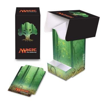 Ultra Pro E-86535 Full-View Deck Box with Tray MTG: Mana 5 Forest, Adultos Unisex, Verde, 12x8x3