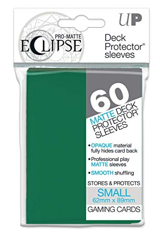 Ultra Pro- Eclipse Small Pro Matte (60 Unidades), Color Verde Bosque. (85831)