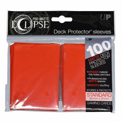 Ultra Pro- Pro-Matte Eclipse Apple Red (100), Color Rojo (UPR85604)