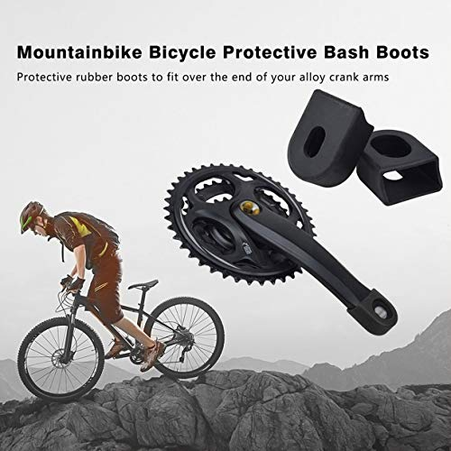 Uniqueheart Crank Protector Protective Cover Crankset Mountainbike Bicycle Protective Bash Boots For Alloy Crank Arm