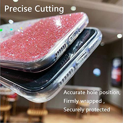 Urhause Purpurina Funda Compatible con Huawei Mate 20 Pro Glitter Brillante Cubierta Protectora Silicona Suave Carcasa Estuche,Ultra-Fina Movil Bumper Goma Case Gel Piel Phone Cover - Azul