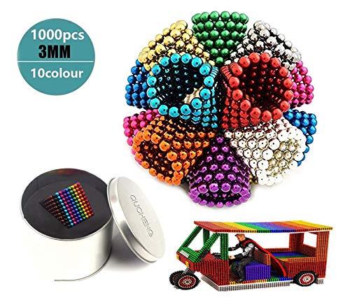 Varillas magnéticas de 1000 y 3 mm para placas magnéticas, pizarras blancas, refrigeradores, soluciones creativas para la reducción del estrés, construcción, rompecabezas 3D en color adulto / infantil