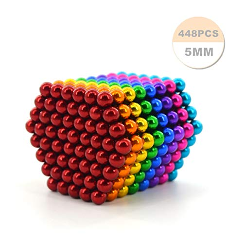 Varillas magnéticas de 448 y 5 mm para placas magnéticas, pizarras blancas, refrigeradores, soluciones creativas para la reducción del estrés, construcción, rompecabezas 3D en color adulto / infantil