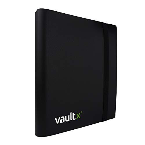 Vault X® Carpeta - Álbum de 4 Bolsillos para Cartas Coleccionables - 160 Bolsillos de Inserción Lateral para TCG (Negro)