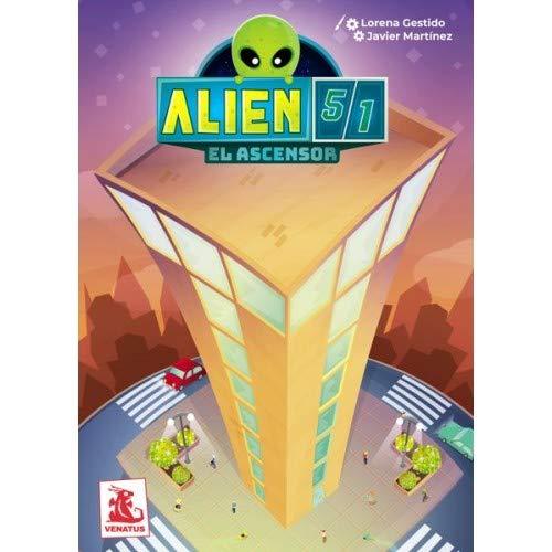 VENATUM Alien 51: El Ascensor - Juego de Mesa [Castellano]