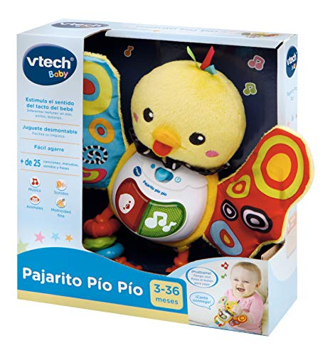 VTech-80-185322 Sonajero Pajarito pío con Voz, Color (3480-185322)