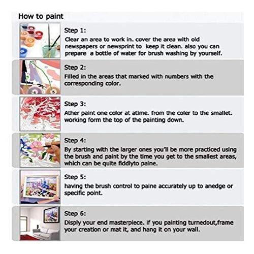 WCIAW Cuadro DIY Pintura Al Óleo - Renacimiento Shout Twisted - Kit De Pintura por Número para Niños Adultos Principiante DIY Regalos 40X50Cm