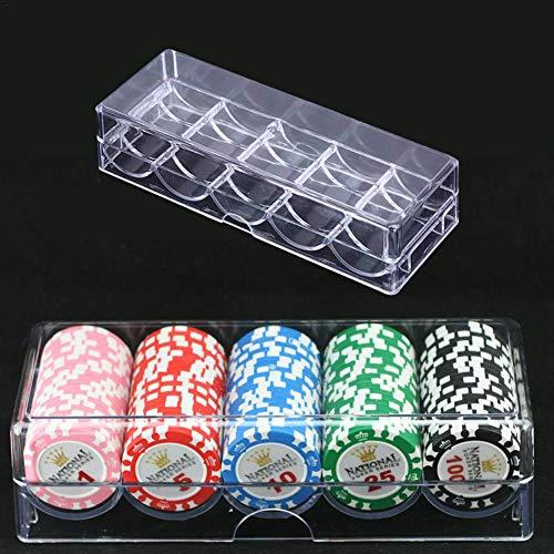 Wetour Poker Chips Box - Juego de póquer con maletín Transparente para fichas de póquer