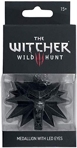 Witcher 3 Kette Wild Hunt medallón con ojos LED metal