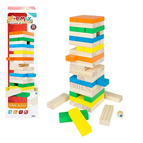 WOOMAX- Torre de bloques madera (Colorbaby 43620)