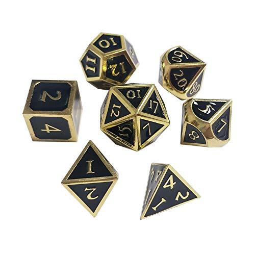 WUYANSE Polyhedron DND Metal Dice 7pcs / Set Innovative RPG Dice D&D Metal Dice Set