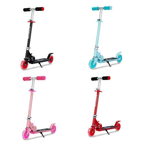 WXQ Scooter Mini Plegable, patín Encendido, el Primer Scooter de 2 Ruedas para Las niñas de 5-12 años de Edad