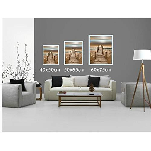 wxswz Pintura al óleo del Paisaje-Callas Blancas por números DIY Imagen Digital Abstracta para Colorear por números sobre Lienzo hogar 40x50cm sin Marco