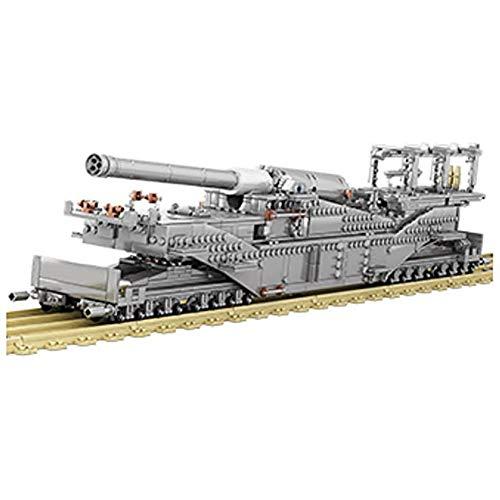 WXX 3846Pcs Tanque Kit de construcción de 1:72 Dora Tren de Armas Modelo Lego Compatible Militar Adultos e Infantiles de cumpleaños
