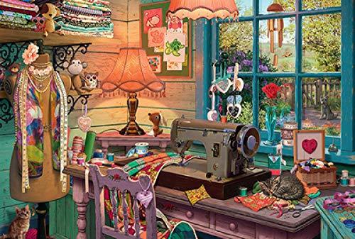 XIAOSHI Imagen 1000 Piezas Madera Adultos Educativos Rompecabezas Juguetes Para Niños Banco trabajo madera 05 3D Foto Estar Dormitorio Decoración Para Hogar Fondo Wallpaper Mural