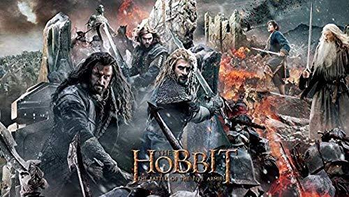 XIAOSHI Imagen 1000 Piezas Madera Adultos Educativos Rompecabezas Juguetes para Niños Batalla Hobbit de los Cinco Ejércitos 3D Foto Estar Dormitorio Decoración para Hogar Fondo Wallpaper Mural