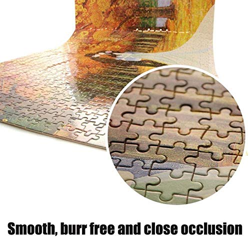 XIAOSHI Puzzle 1000 Piezas Imposible Rompecabezas Adultos Puzzle Niños Tiempo y marea 3D Decoración Pared Imagen Madera Montaje Educación Rompecabezas Alivie Estrés Divertido Juego