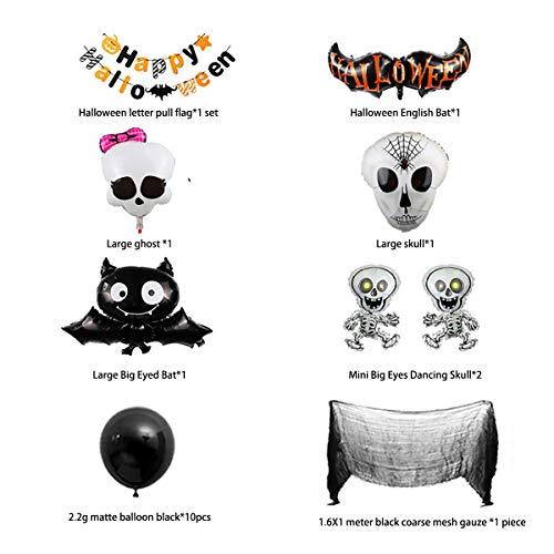 XIJUGE Suministros De Decoración De Globos De Halloween Diseño De Accesorios De Pilares De Guía De Globos De Decoración De Fiestas Navideñas, con Letras para Tirar De La Bandera, (2 Pack)