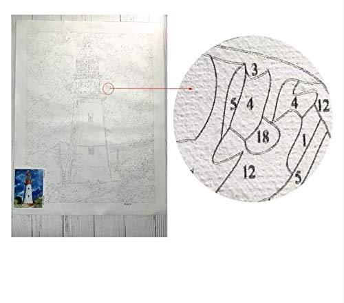 Xqi wangpu Cuadro Sin Marco DIY Pintura Al Óleo by Números Decoración De Pared Pintura sobre Lienzo para Decoración para El Hogar Dama con Tigre 16x20 Inch
