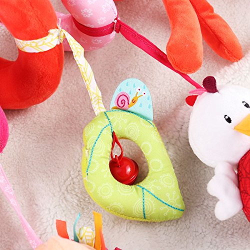 Yeahibaby Bebé bebé Cuna de juguete envolver alrededor Cuna de ferrocarril juguete Fox Cochecito de juguete lindo bebé juguetes educativos de peluche