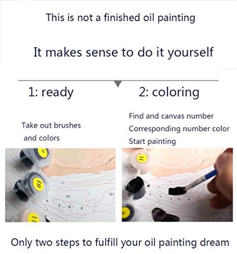 YIDIANYUAN Pintura al óleo Digital de Bricolaje Parada en Boxes Pintura por número Kits Decoraciones para el hogar